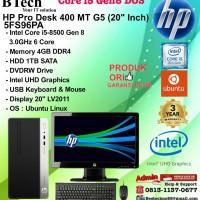 HP PRO DESK 400 MT G5 - 5FS96PA Core i5-8500/4GB/1TB/DVDRW/DOS/3YR