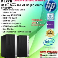HP PRO DESK 400 MT G5 - 5FS98PA Core i5-8500/4GB/1TB/WIN10PRO PC ONLY
