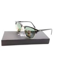 Kacamata Rayban Clubmaster Diamond Hard hitam glossy list go Tokopedia