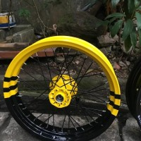 Sepaket Velg Motor Custome Supermoto Klx 150 - Dtracker Ring 17 Lebar