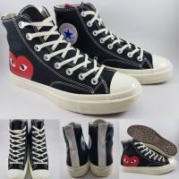 Sepatu Converse Chuck Taylor X Comme Des Garcons CDG Play High Black