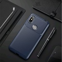 Softcase AutoFocus Carbon Rugget Case Casing HP Samsung Galaxy A7 2018