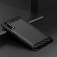 Softcase TPU Jelly Carbon Fiber Case Casing HP Samsung Galaxy A7 2018