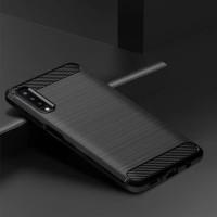 Softcase TPU Jelly Carbon Fiber Case Casing HP Samsung Galaxy A7 2018