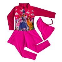 Baju Renang Anak Muslim Karakter Princess BRAM-K184TK (Terusan)
