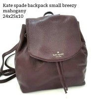 kate spade backpack small breezy mahogany tas asli original bag
