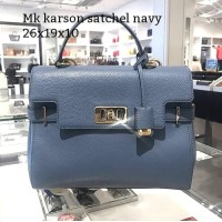 Michael kors karson satchel navy tas asli original bag branded bag