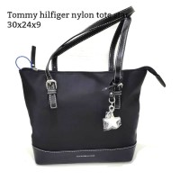 Tommy hilfiger nylon tote black tas asli original bag