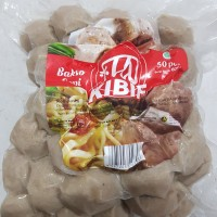 Bakso sapi premium kibif boss baso isi 50 butir 600 gr garansi wuenak