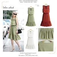 34551 - Green,Red,White Retro Sweet - Dress