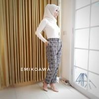 Celana Panjang Wanita Kotak - Emikoawa / Souvenir / Berkualitas