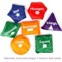 Mainan Edukasi Bean Bag Montessori - Shapes Puzzle Geometri MURAH