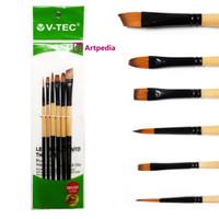 V-Tec Brush A520 Set 6 / Kuas Lukis Set isi 6