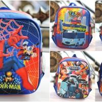 Tas ransel backpack anak laki 3 dimensi sekolah TK Paud ultraman