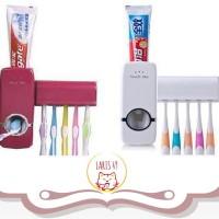 Dispenser Odol dan Sikat Gigi / Tempat Odol dan Sikat Gigi