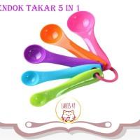 Sendok Takar Set 5 in 1 Warna warni