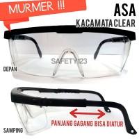 ASA Kacamata Safety Glasses Kaca Mata Kerja Gerinda Murah Clear Bening