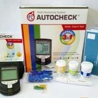 Alat Autocheck GCU 3 in 1 gula darah kolesterol asam urat