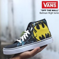 Sepatu Vans Authentic Old School Sneakers Motif Batman