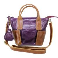 Handbag Kulit Wanita Lestari Twotone Purple