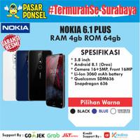 HP ANDROID NOKIA 6.1 PLUS 4/64GB GARANSI RESMI NOKIA TERMURAH SURABAYA