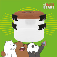 KOTAK MAKAN SUSUN / LUNCH BOX STACKABLE WE BARE BEARS