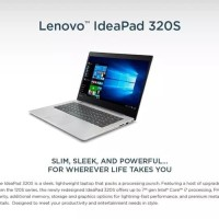 PROMO LAPTOP NOTEBOOK LENOVO IDEAPAD 320S I5 GEN 8 WINDS STOCK