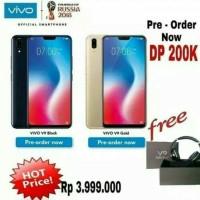 HP VIVO V9 RAM 4 ROM 64GB Garansi resmi Vivo Indonesia -Black & Gold-