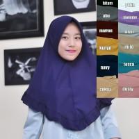 Jilbab Instan Remaja / Hijab Rempel / Kerudung Khimar Aliza Navy