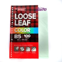 Big Boss Loose Leaf Rainbow Color Bigboss Bigbos Isi Binder B5 26 Hole