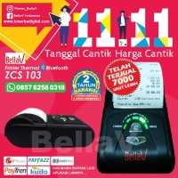 Printer Thermal Bluetooth BellaV ZCS103 Android plus 1 roll kertas