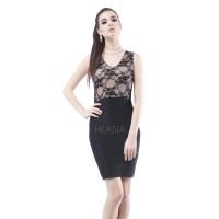 REGINA BLACK SIGNATURE BANDAGE DRESS