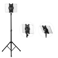 Universal Foldable Multi-direction Floor Stand Tablet Tripod Mount Hol