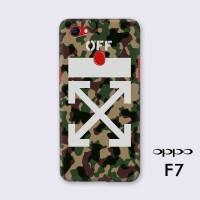 Hard case Custom 3D Fullprint Semua type HP OPPO F7 Off white camo