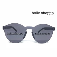 Kacamata wanita Jelly Candy hitam transparan MD9803 - sunglasses