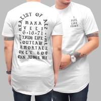 kaos longline distro murah / kaos pria streetwear / kaos ori fregie