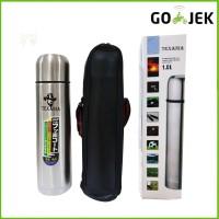 Termos Kapsul + Sarung 1000 ml Vacuum Air Panas Botol Stainles 1 Liter