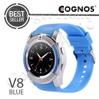 jam tangan pria Cognos - GSM V8 Smart Watch Smartwatch (TERMASUK BOX)