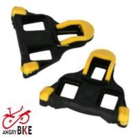 Pedal Cleat Sepeda Balap Road Bike Kuning