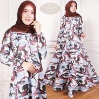 Maxi Emma (96) Army Baju Muslim Wanita Gamis Model Kekinian Terbaru