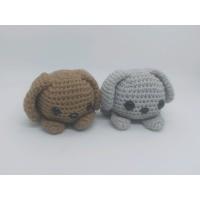Amigurumi Sepasang Boneka Rajut Cute Couple Puppy Anak Anjing Handmade