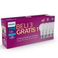 Paket Lampu Led Ledbulb Mycare Philips Pack isi 4 pcs 10w 10 Watt
