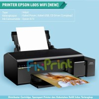 New PHOTO Printer Epson L805 WIFI Ink Tank (Tinta Refill 673 - 6 Warna