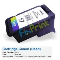 New Jual Cartridge Bekas Canon CL-57 Color Printer E400