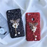 Hardcase Gliter Butterfly Blink Diamond Cover Case Casing HP Vivo Y53