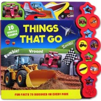 Things That Go Tabbed Sound Board Book with 10 Vehicle (Super Murah!)