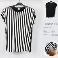 Justmom atasan menyusui Odessa black stripes OD110