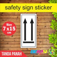 Safety Sign Sticker Limbah B3 - PANAH PENUNJUK ARAH PACKING 7 x 15 cm