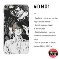 casing anime death note #dn01 hp samsung xiaomi oppo iphone asus etc