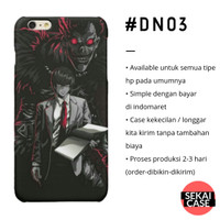 casing anime death note #dn03 hp samsumg xiaomi oppo iphone asus etc